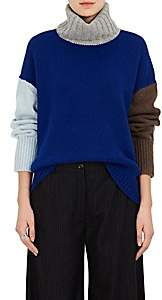 TOMORROWLAND Women's Colorblocked Wool Sweater - Blue