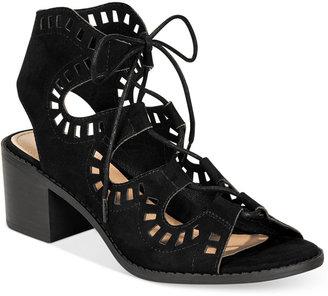 Esprit Lotus Block-Heel Lace-Up Sandals $55 thestylecure.com