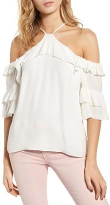 Women's Parker Natalia Cold Shoulder Silk Blouse $198 thestylecure.com