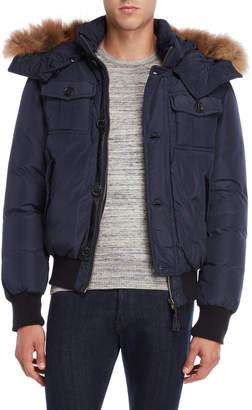 Mackage Real Fur Trim Hooded Down Coat