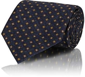 Brioni Men's Diamond-Print Silk Necktie
