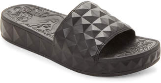 Ash Black Splash Wedge Slide Sandals