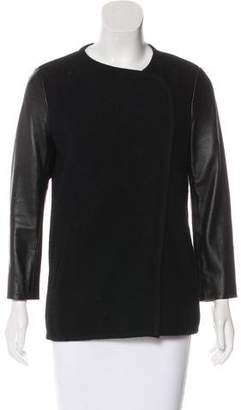 Vince Wool Leather-Accented Jacket
