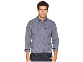 Ben Sherman Long Sleeve Clock Time Print Shirt