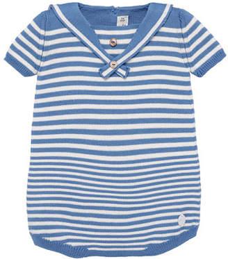 Carrera Pili Nautical Stripe Knit Romper, Size 3-18 Months