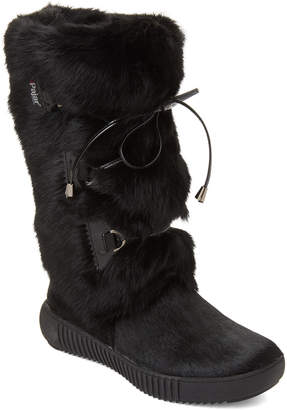 Pajar Canada Black Juliana Real Fur Boots