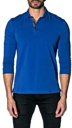 Jared Lang Long Knit Modern Fit Polo Shirt