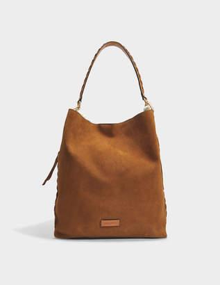 Vanessa Bruno Holly Hobo Bag in Hazelnut Calf Leather