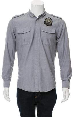 Balmain Woven Button-Up Shirt