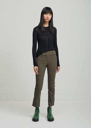 Isabel Marant Ludlow New Stretch Cotton Trousers Bronze