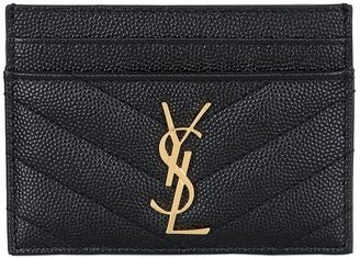 Logo Leather Card Holder $250 thestylecure.com