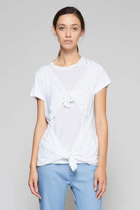 Marques Almeida Slashed & Knotted Tee - White