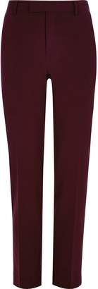 Mens Big and Tall dark Red suit trousers