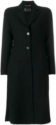 Versace slim single-breasted coat