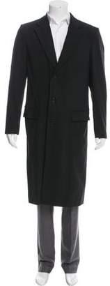 BLK DNM Three-Button Wool Blend Overcoat