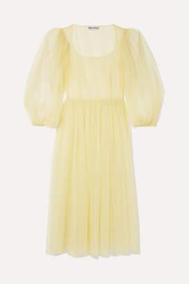 Molly Goddard Bronwyn Tulle Midi Dress - Green