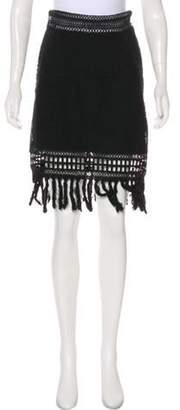 Jonathan Simkhai Embroided Knee-Length Skirt Black Embroided Knee-Length Skirt