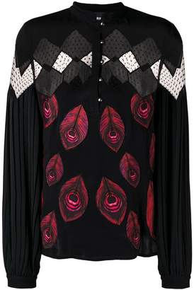 Just Cavalli sheer panel blouse