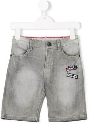 Little Marc Jacobs patched denim shorts