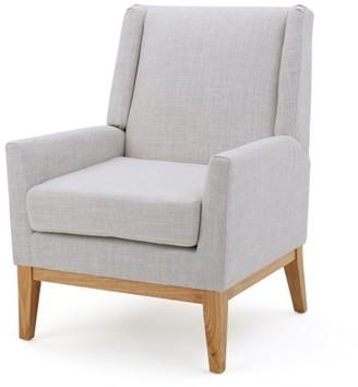 BEIGE Noble House Lauren Fabric Accent Chair