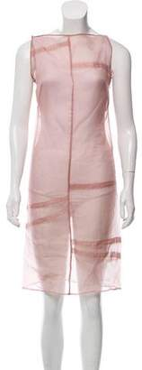 Philosophy di Alberta Ferretti Embellished Silk Dress w/ Tags