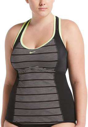 35b4274886 Nike Plus Size Striped Racerback Tankini Top