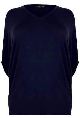 Yours Clothing Plus Size Womens V-neck Oversized Cape Style Jersey Top Plus Size 16 To 36