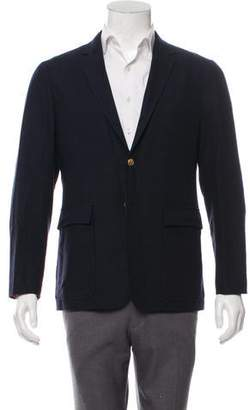Thom Browne Suede-Accented Wool & Cashmere Blazer