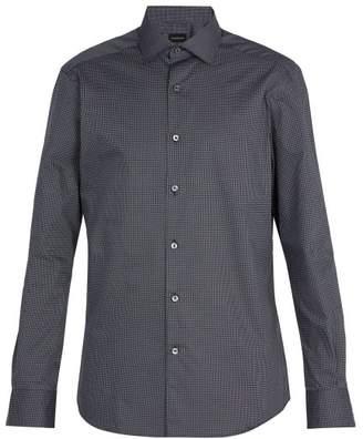 Ermenegildo Zegna Printed Cotton Shirt - Mens - Navy Multi