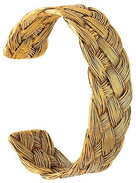 Aurelie BidermannAurelie Bidermann 'Braided' open bracelet