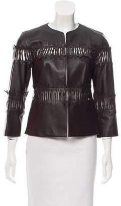 Lafayette 148 Leather Cutout Jacket
