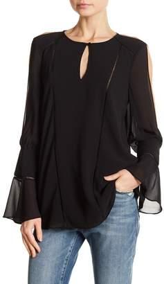 Haute Hippie Bessie Cutout Sleeve Blouse