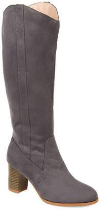 Journee Collection Womens Jc Parrish Dress Stacked Heel Zip Boots
