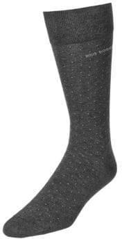 BOSS Mens Dotted Dress Socks