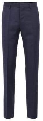BOSS Hugo Slim-fit pants in patterned virgin wool serge 30R Dark Blue
