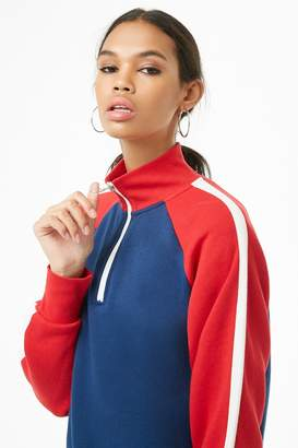 Forever 21 Colorblocked Pull-Ring Pullover