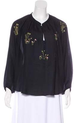 The Great Embroidered Long Sleeve Top