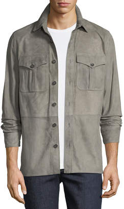 Ralph Lauren Men's Barron Suede Utility Jacket