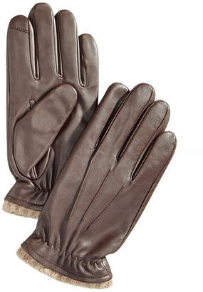 Club Room Men's Cashmere Lined Leather Gloves