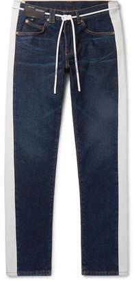 Off-White Slim-Fit Striped Denim Jeans