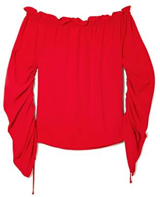 Vince Camuto Off-the-shoulder Ruched-sleeve Blouse