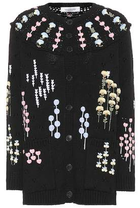 Valentino Embroidered wool cardigan
