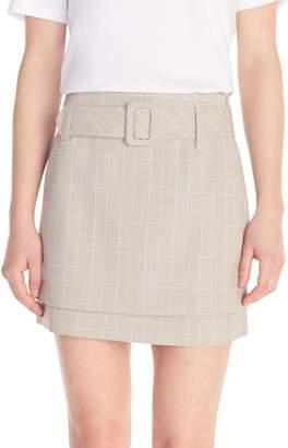 Maje Jikam Plaid Belted Shorts