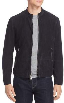 John Varvatos Collection Suede Moto Jacket