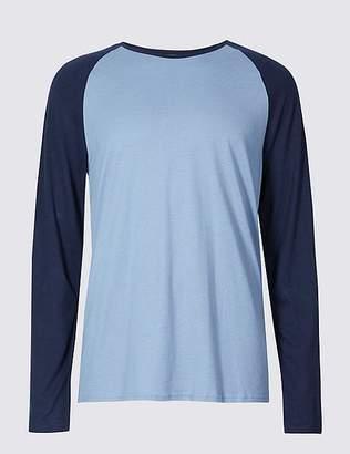 Marks and Spencer Cotton Tencel Blend Pyjama Top
