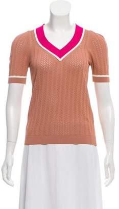 No.21 No. 21 Short Sleeve V-Neck Sweater w/ Tags