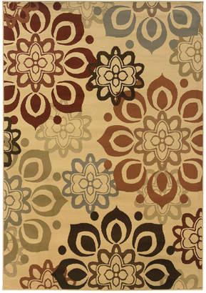 """Sphinx Oriental Weavers Closeout! Oriental Weavers Area Rug, Pember 4441W Snowflake 22"""" x 34"""""""