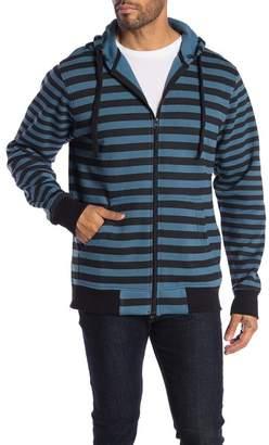 Wellington Stripe Zip Hoodie