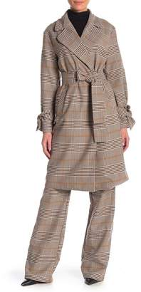 re:named apparel Shelly Patterned Trench Coat