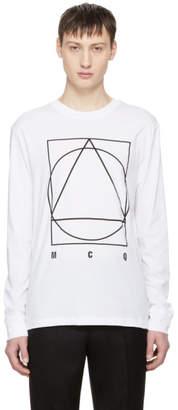 McQ White Long Sleeve Glyph Icon T-Shirt